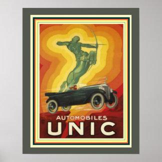 Poster Anúncio do art deco do vintage para automóveis de
