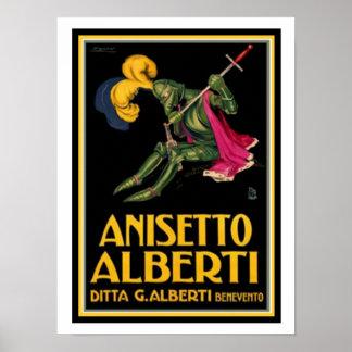 Pôster Anúncio do vintage para Anisetto Alberti 12 x