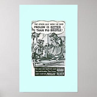 Poster Anúncio engraçado dos cuidados dentários do