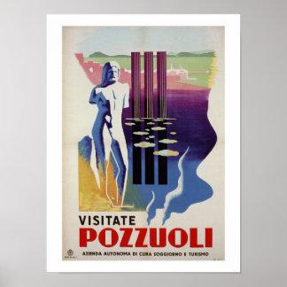 Poster Anúncio romano do viagem de Italia da cidade do