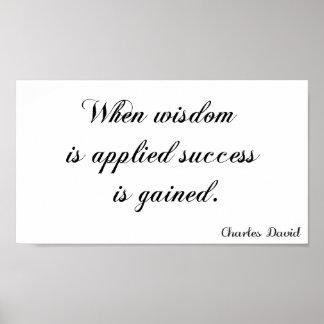 Pôster Aplicação da sabedoria