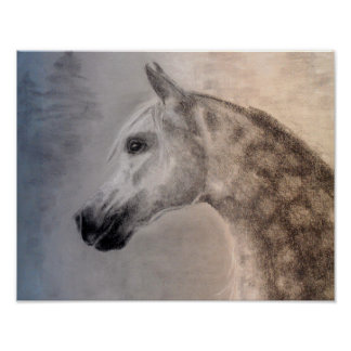 Poster árabe da arte do cavalo