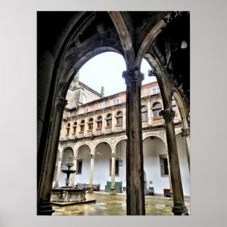 Pôster Arcos espanhóis em Santiago de Compostela