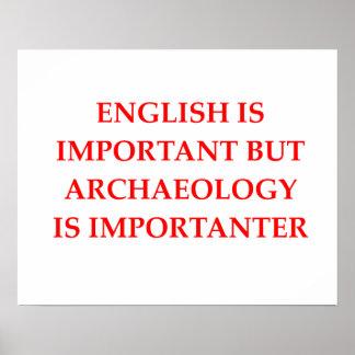 Pôster arqueologia