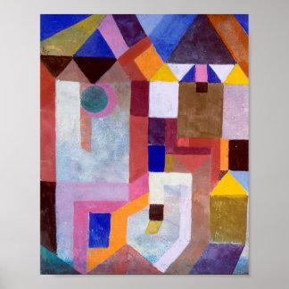 Pôster Arquitetura colorida: Paul Klee 1917