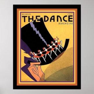 "Pôster Art deco ""cobrir da dança"" (1920) 16 x 20"