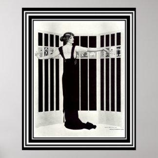 """Poster Art deco da """"arte da parede da tela"""" 16 x 20 de"""