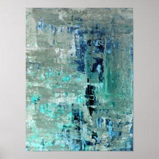 """Pôster Arte abstracta """"generosa"""" de turquesa"""