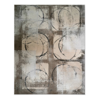 """Pôster Arte abstracta neutra """"aterrada"""""""