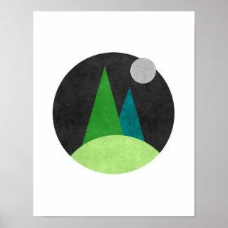 Poster Arte abstracta nórdica minimalista