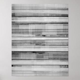 """Pôster Arte abstracta preto e branco """"masculino"""""""