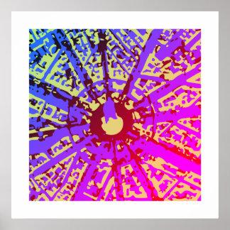 Pôster Arte abstrata brilhante da parede