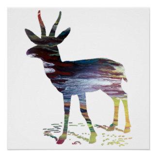 Pôster Arte da gazela