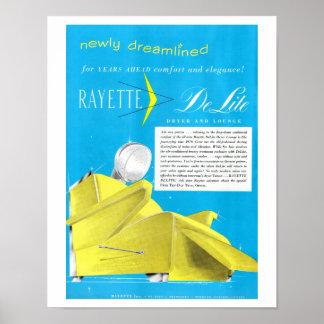 Poster Arte da loja de beleza do secador de cabelo de