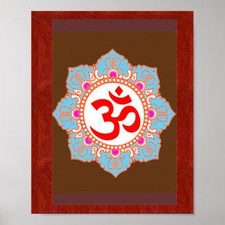 Pôster Arte da mantra do OM: por Navin Joshi, presentes