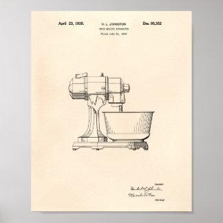 Pôster Arte de mistura Peper velho da patente do