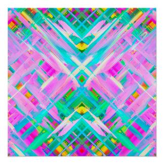 Pôster Arte digital colorida do poster perfeito que