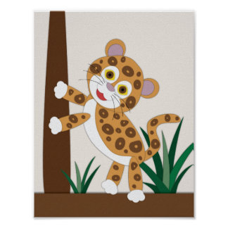 Poster Arte do berçário de Jaguar
