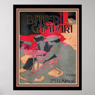 """Poster Arte Nouveau """"Campari amargo por Adolfo"""