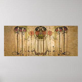 Pôster Arte Nouveau Charles Mackintosh o Wassail