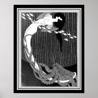 "Poster Arte Nouveau de ""Salome"" por Julius Klinger (1909)"