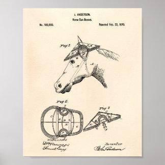 Poster Arte Peper velho da patente de Sunbonnet 1870 do
