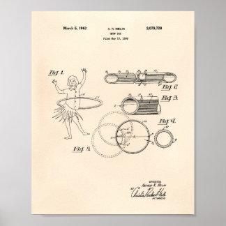 Pôster Arte Peper velho da patente do brinquedo 1963 da