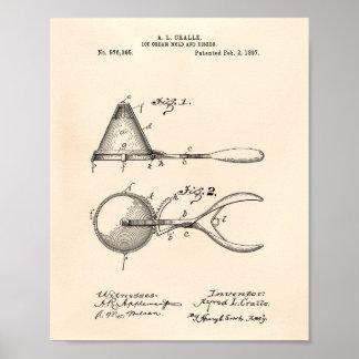 Pôster Arte Peper velho da patente do molde 1897 do