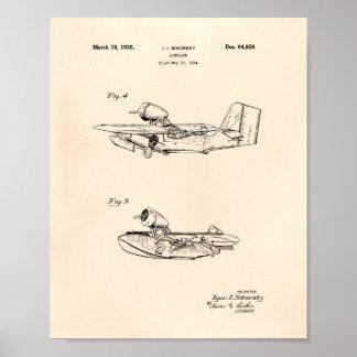 Pôster Arte Peper velho da patente do Trowel 1893 do