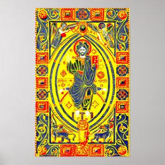 Pôster Arte popular bizantina Jesus