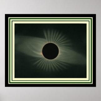 Pôster Arte solar completa da parede do eclipse 16 x 20