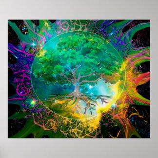 Pôster Árvore da saúde e da vitalidade de vida