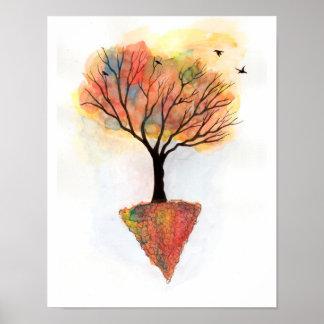 Pôster Árvore das cores