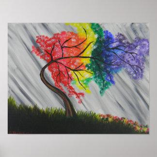 Pôster Árvore do arco-íris