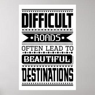 Poster As estradas difíceis conduzem aos destinos bonitos