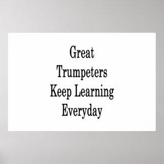 Poster As grandes trompetistas mantêm a aprendizagem