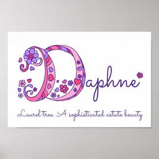 Poster As meninas de Daphne da arte do monograma de D