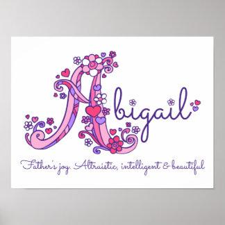 Pôster As meninas de uma Abigail da arte do monograma