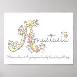Poster As meninas de uma Anastasia da arte do monograma