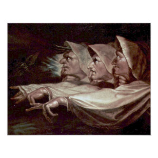 Poster As três bruxas por Henry Fuseli