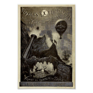 Pôster As viagens Extraordinaires de Jules Verne (1861)