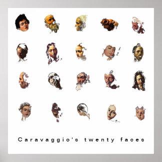 Poster As vinte caras de Caravaggio