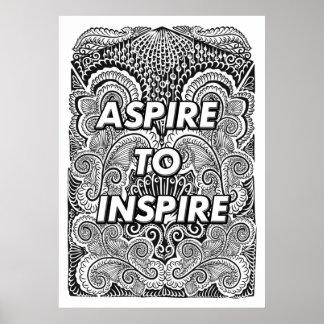Pôster ASPIRE INSPIRAR - citações positivas da indicação