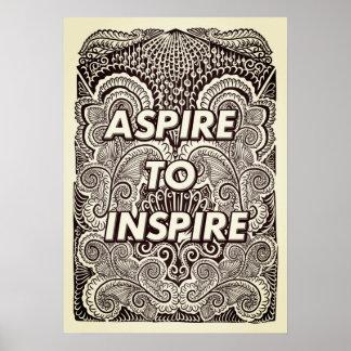 Poster ASPIRE INSPIRAR - citações positivas da indicação