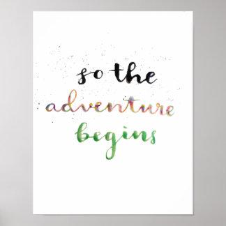 Pôster Assim a aventura começa