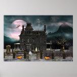 Poster assombrado da casa 2 do Dia das Bruxas