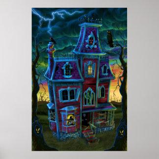 Poster assombrado do retrato da casa