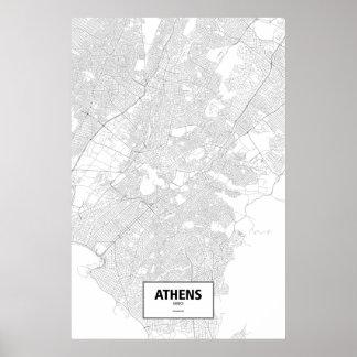 Poster Atenas, piscina (preto no branco)