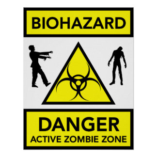 Poster ativo da zona do zombi do perigo do Biohaza Pôster