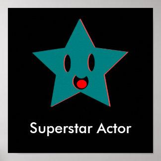 Poster Ator da estrela mundial